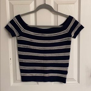 NEW American Eagle Outfitters Blue & White Sweater